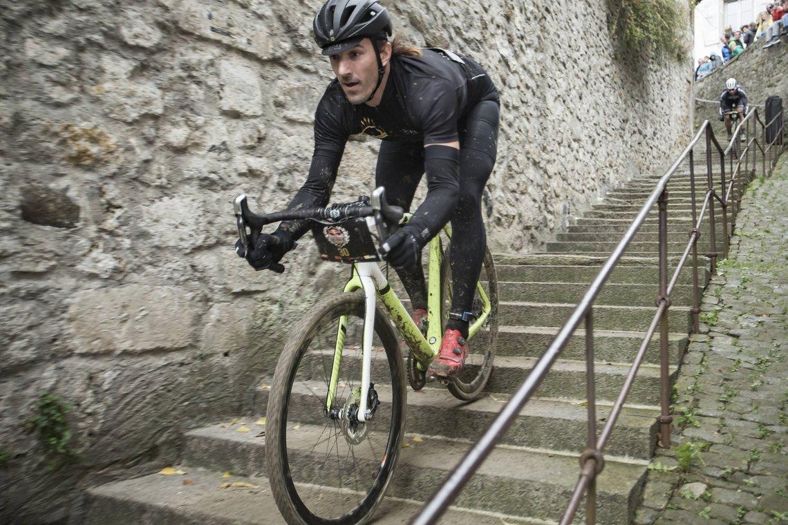 Cancellara auf der Schüttelbecher Treppe!