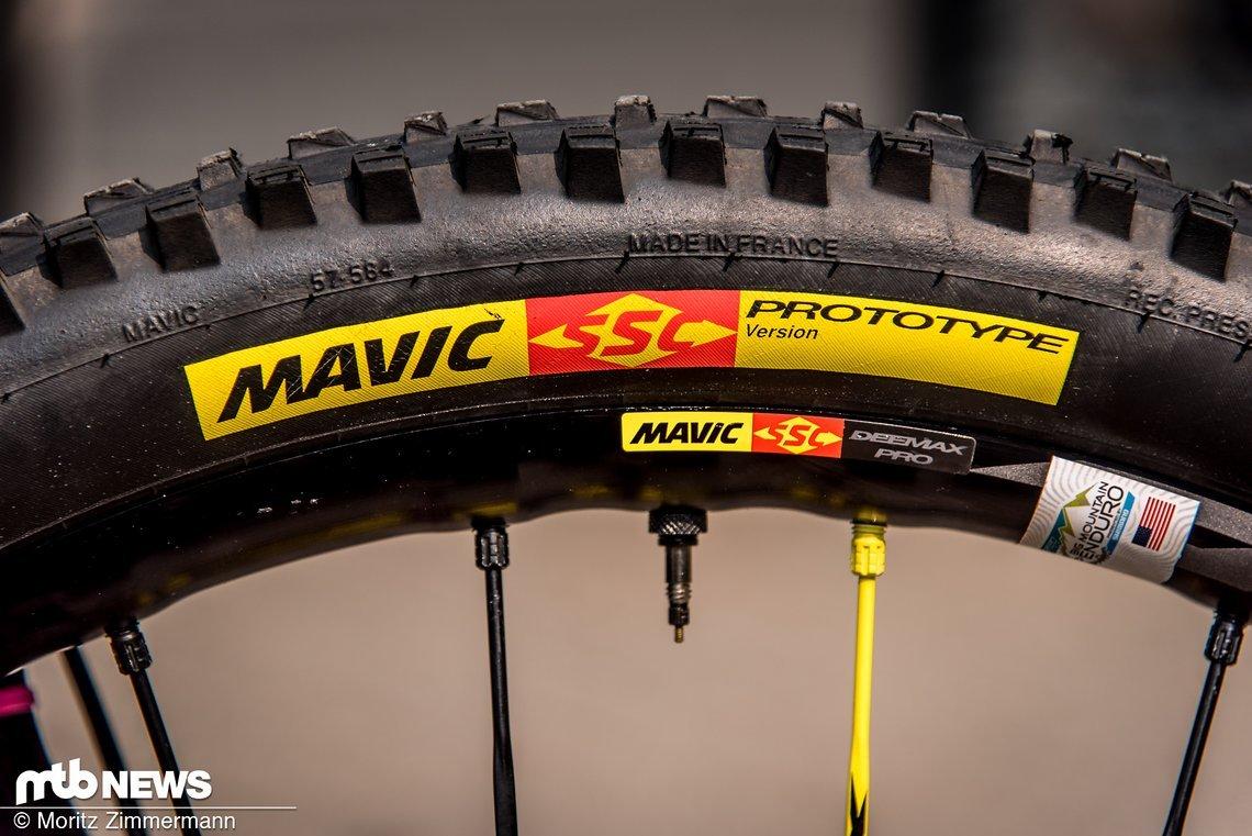 Bei den Mavic Crossmax Charge-Reifen handelt es sich um Prototypen der Allrounder