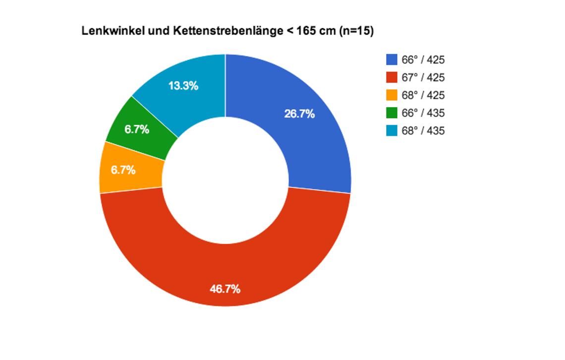 Lenkwinkel und Kettenstrebenlänge XS