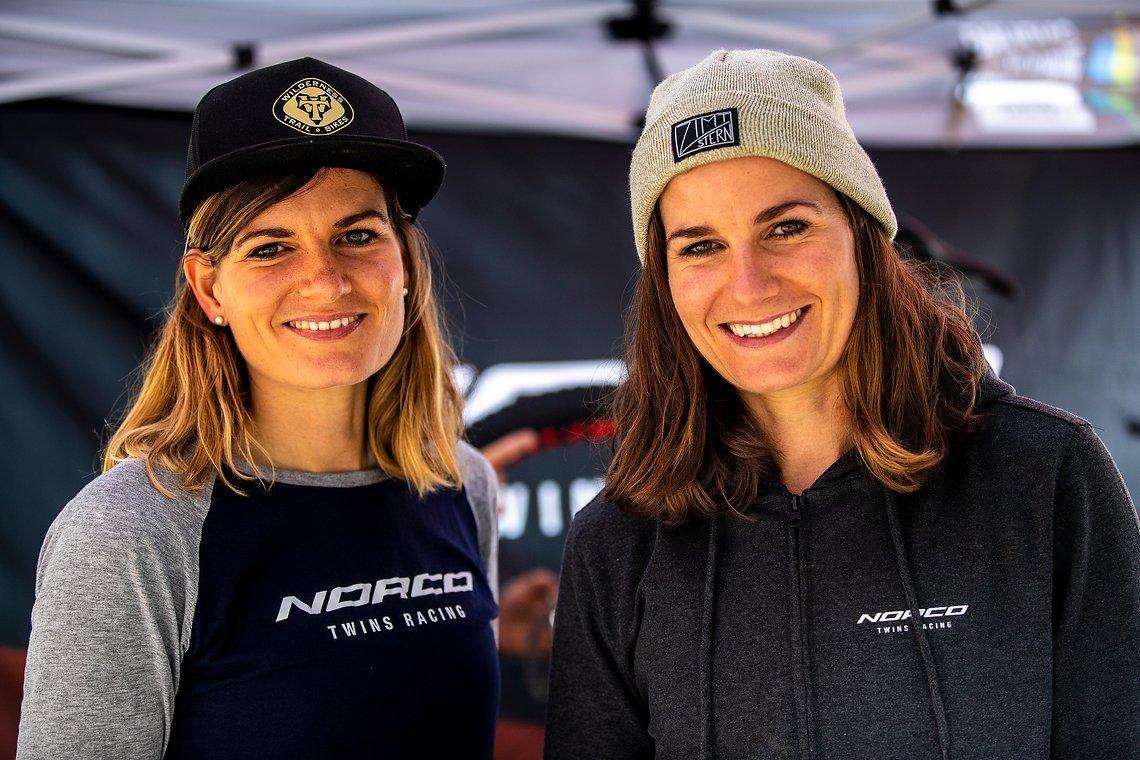 Das Norco Twins Racing Team, bestehend aus Anita und Caro Gehrig