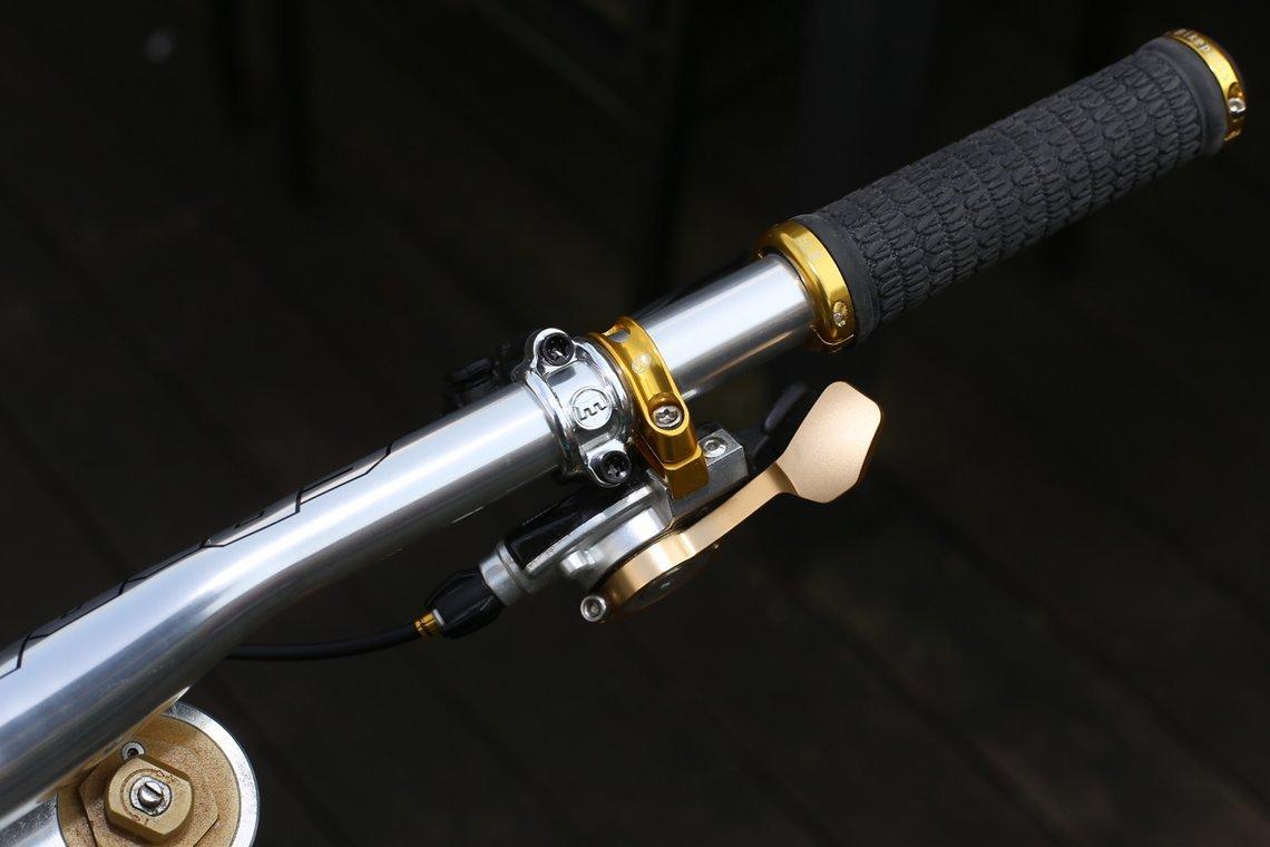 SRAM X.O gold nugget Schalthebel