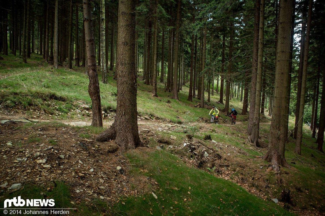 Uphill auf der Ludvikovsky traverz