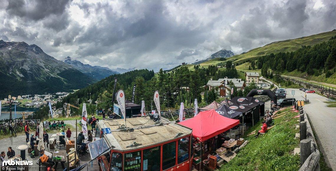 Das Base Camp der Rocky Mountain Trail Games war Chantarella, gut 150 Meter über St. Moritz