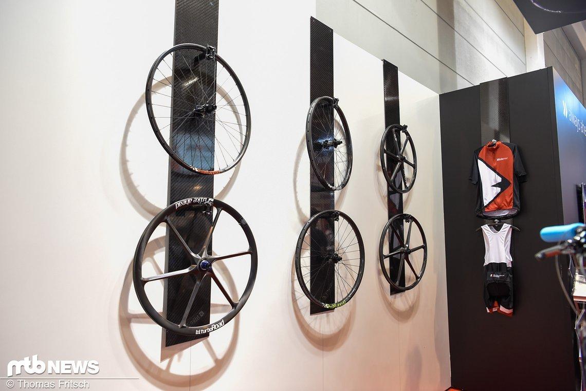Das Laufradsatzportfolio von Bike Ahead Composites.