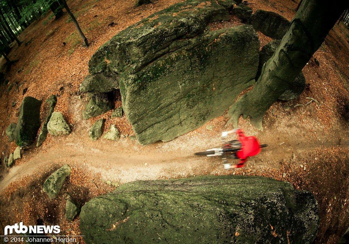 Nad Bilym Potokem ist der 2. Trail von Hejnicky hreben