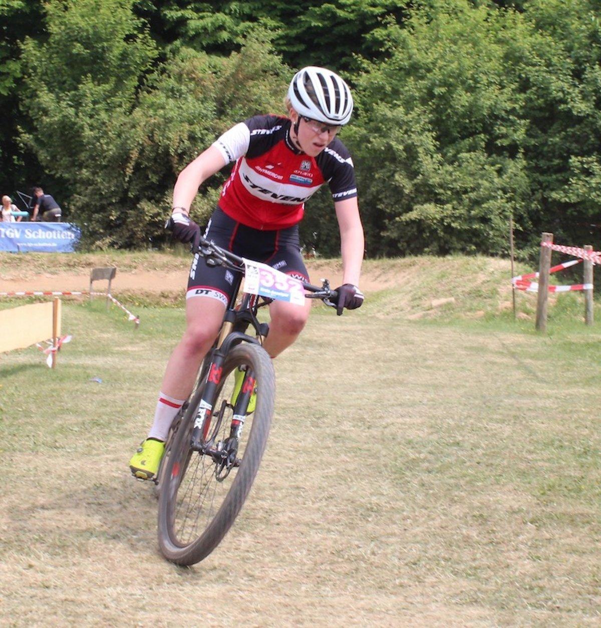 Emma Eydt war im Rennen der Juniorinnen nicht zu stoppen.
