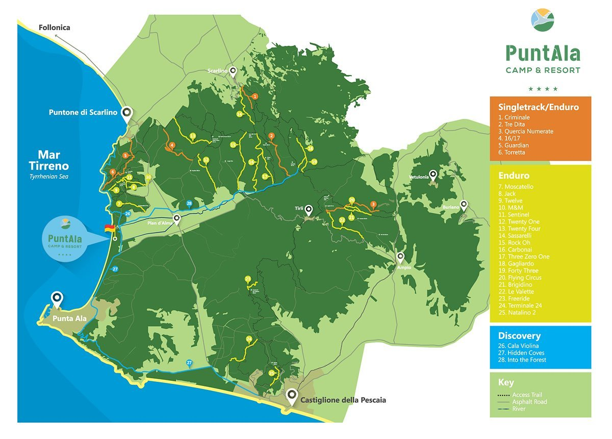 Punta Ala Trail Map