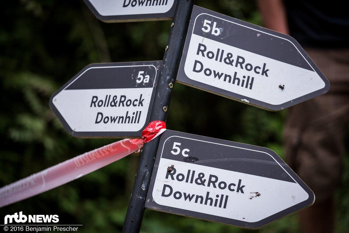 Viele der Strecken verliefen abgewandelt durch den Bikepark Schönecks