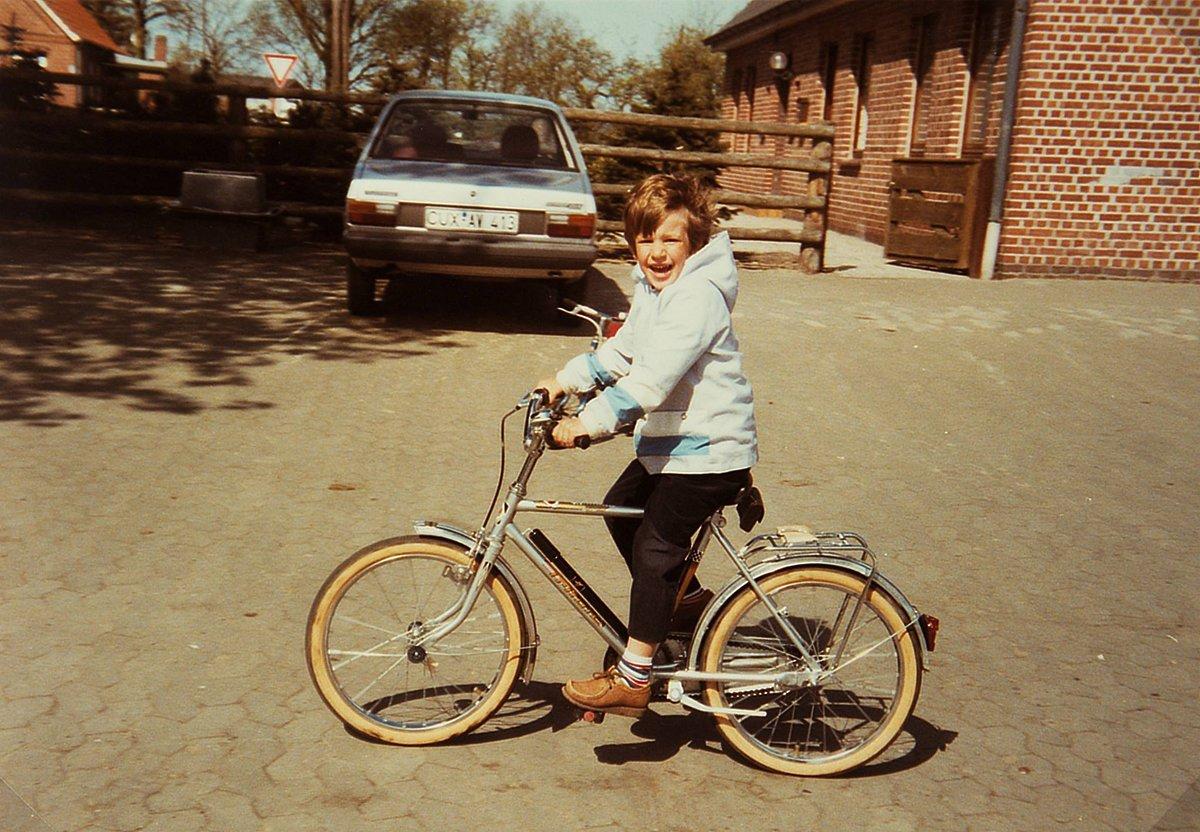 So fing es damals an, ich auf meinem ersten Rad