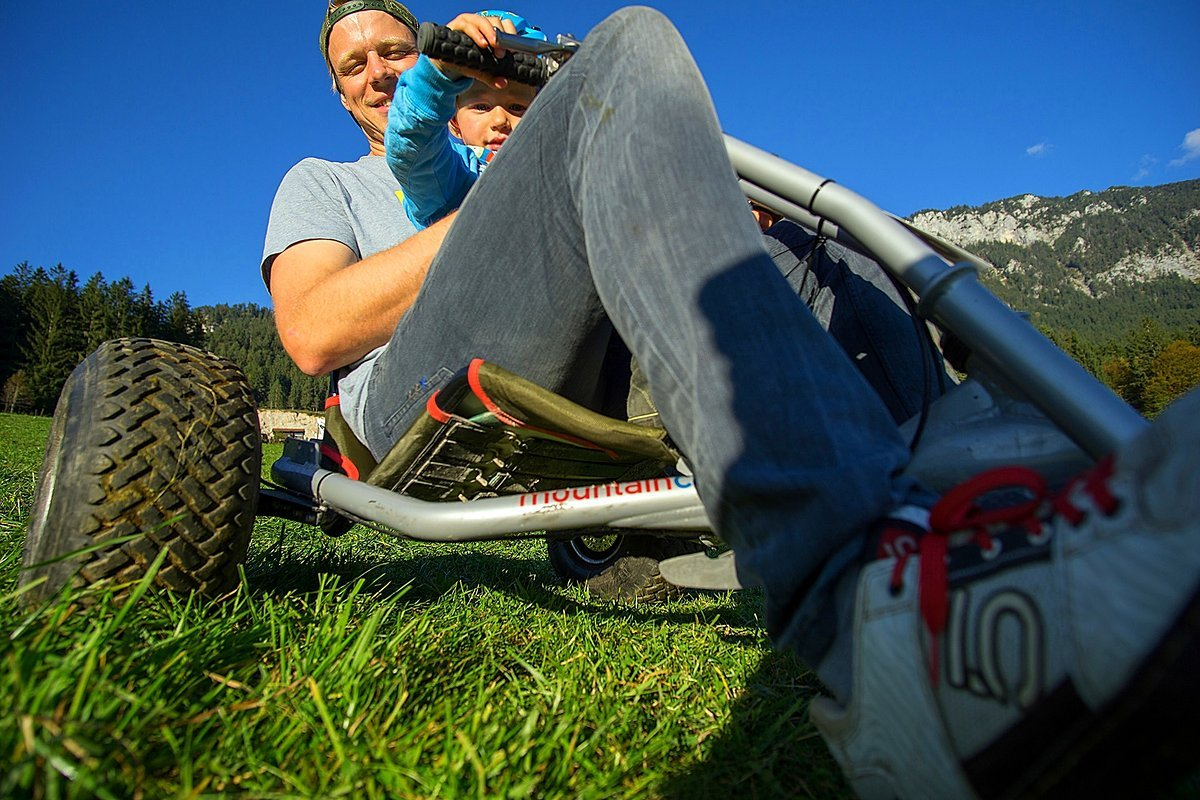 Mountainkart double - Blogger Tommy mit Nachwuchs