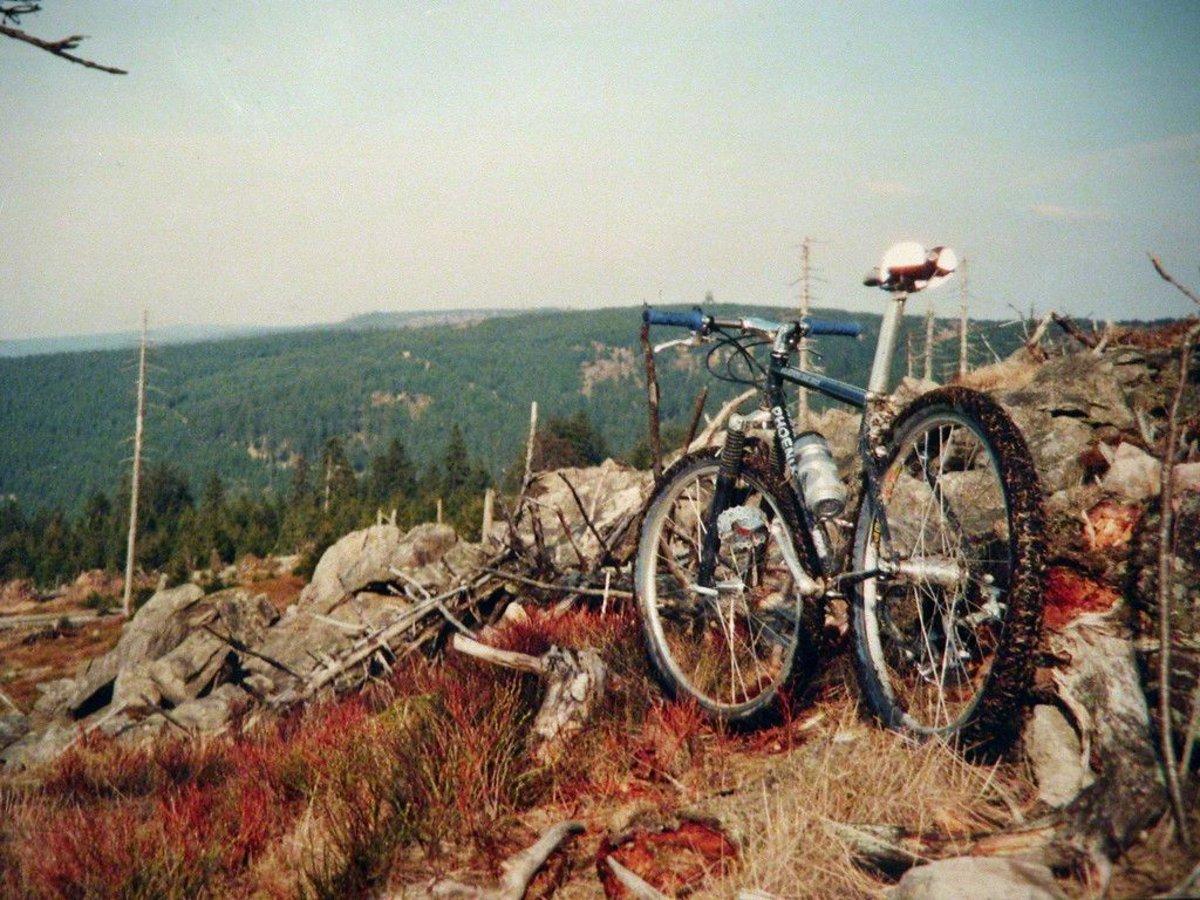 Im Harz war das Bike ein treuer Begleiter ...