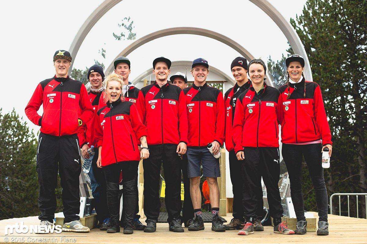 Das sind die Damen und Herren, die letztes Jahr Deutschland bei der Downhill-WM vertraten