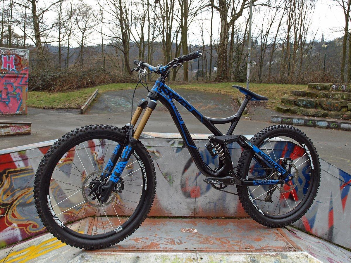 n8tive Doppel Lock-On Griff Set ROCK 130mm grau MTB Downhill Fahrrad