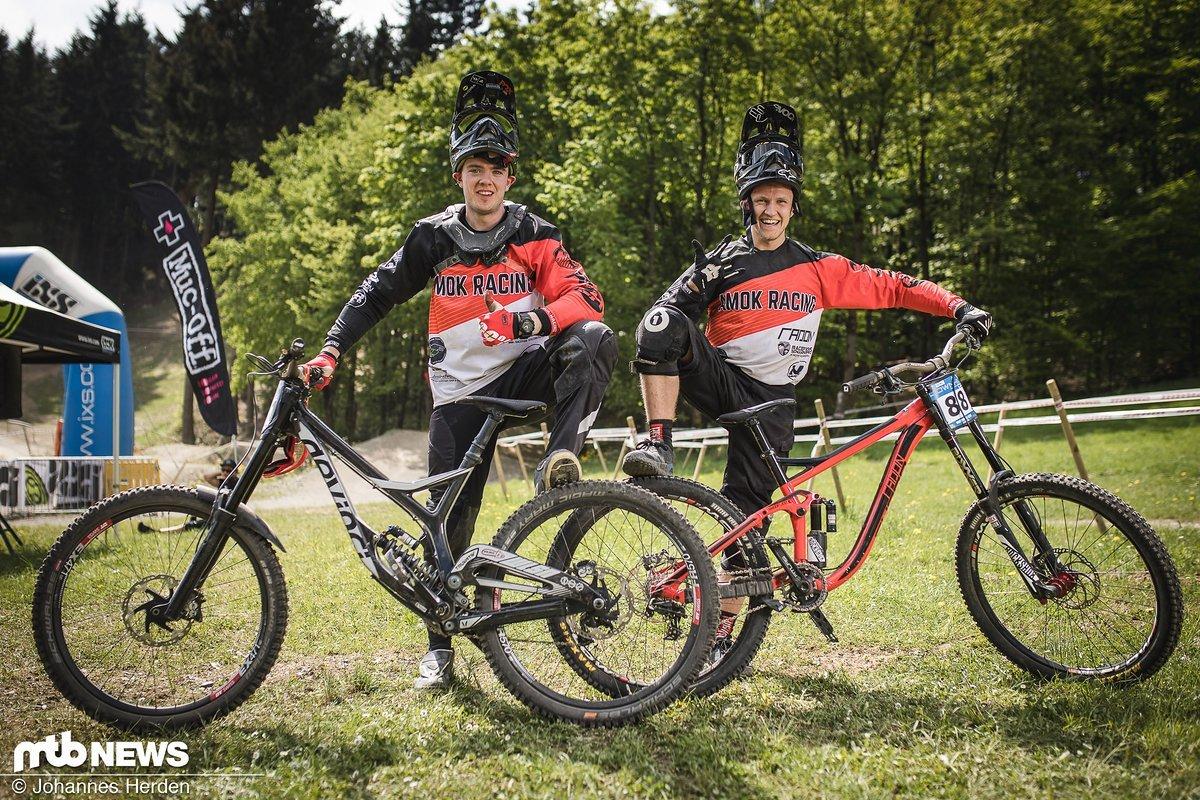 """AMOK-Racing: Sean Brooke-Edwards und Kevin """"da geht er vom Rad"""" Ociepka"""
