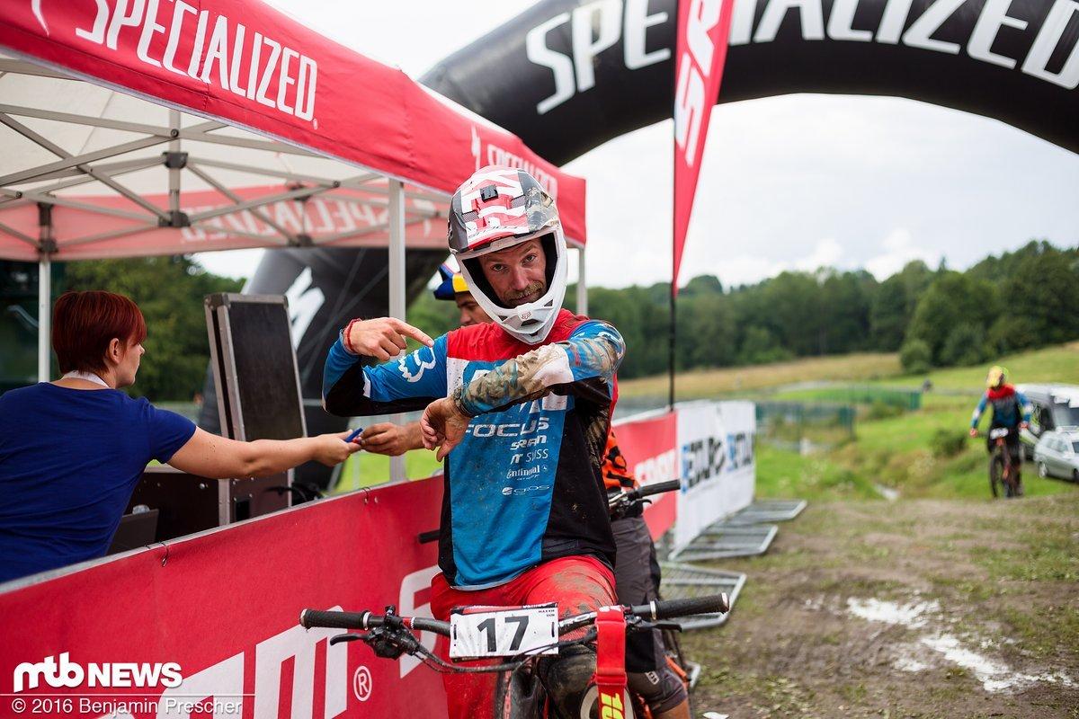 Fabian Scholz vom Focus Trail Team kämpfte am Wochenende um den Titel - leider kam auch er nicht fehlerfrei ins Ziel