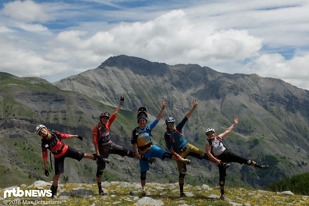 Ladys-Choreographie. Uphill-Abwechslung