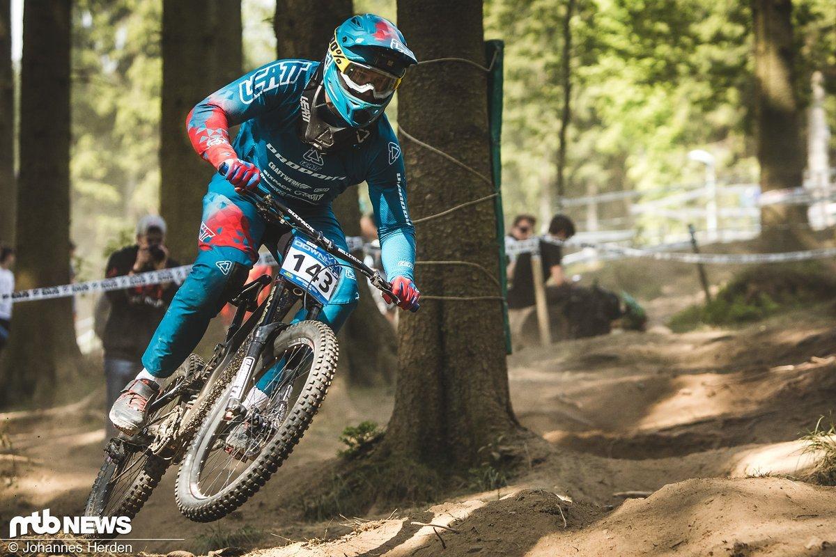 Marcel Merkeli fuhr auf Rang 8 bei den U19-Fahrern