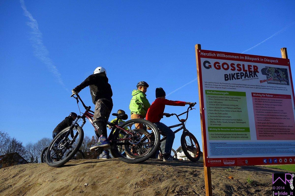 Starthügel am Gossler Bikepark