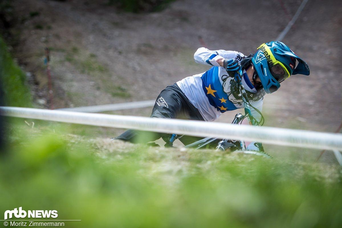 Monika Hrastnik war das ganze Wochenende über stark unterwegs und konnte sich auf Rang 4 qualifizieren