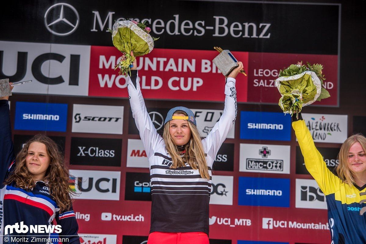 Vali Höll gewinnt auch den dritten Weltcup des Jahres bei ihrem Heimrennen in Leogang