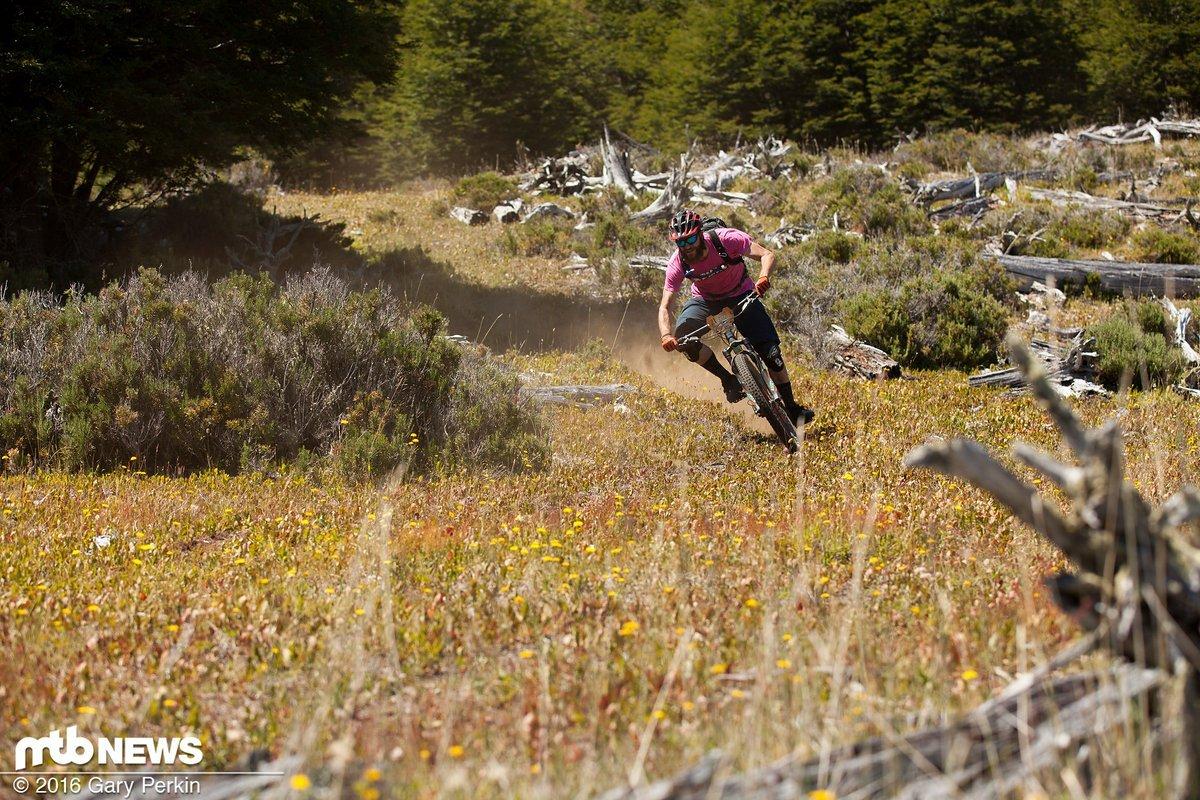 Bei hohen Geschwindigkeiten profitierte man von der guten Balance des Bikes