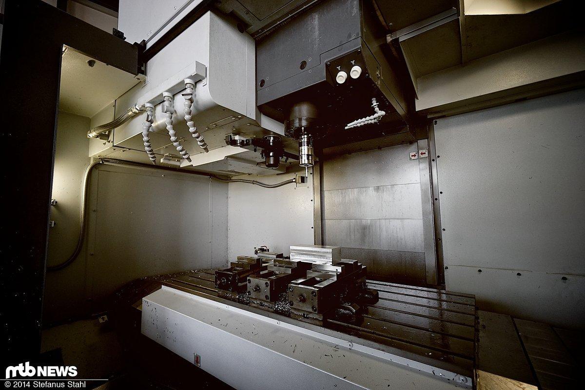 Bauraum der Fräsmaschine