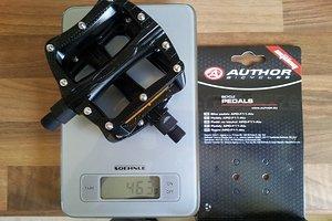 APD-F11-ALU schwarz /MTB, BMX / 9/16-Standard