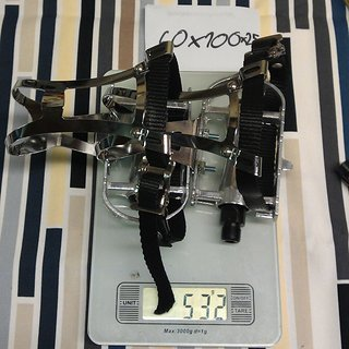 Gewicht No-Name Pedale (Sonstige) Hakenpedale 100x60x25mm