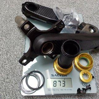 Gewicht Shimano Kurbel Saint FC-M820 68/73 Hollowtech 2 165