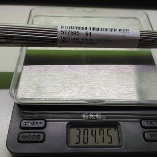 Gewicht Sapim Speiche Laser 291mm, 64 Stück
