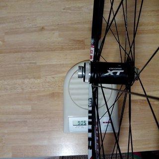 "Gewicht Shimano Systemlaufräder XT HB-M788 - WTB Frequency Team i25 - DT Revo/Comp 29"", VR, 100mm/15mm"