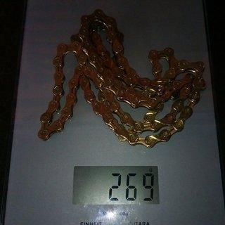 Gewicht KMC Chain Kette X 9 L Gold 107 Glieder, 9-fach