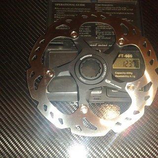 Gewicht Shimano Bremsscheibe XTR SM-RT98S 160mm
