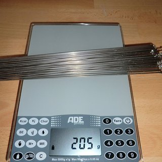 Gewicht DT Swiss Speiche Competition 284mm, 32 Stück