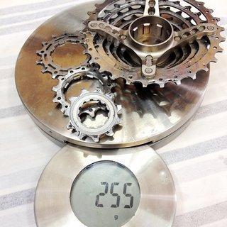 Gewicht Shimano Kassette XT CS-M737 8-fach, 11-30Z