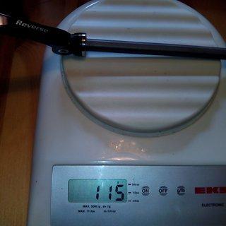 Gewicht Reverse Components Achse QR-Ø10mm Stahl Achse 135 x 10 mm