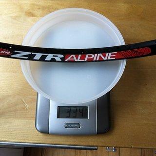 """Gewicht Notubes Felge ZTR Alpine 26"""", 559x20, 32 L"""