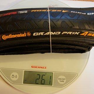 Gewicht Continental Reifen Grand Prix 4-Season 700x28C, 28-622