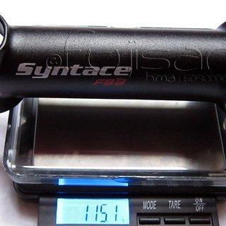 Gewicht Syntace Vorbau Force 99 25.4mm, 120mm, 6°