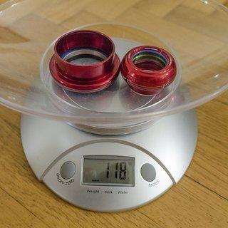 Gewicht Cane Creek Steuersatz 110 Tapered External Cup  EC34/28.6 & EC49/40