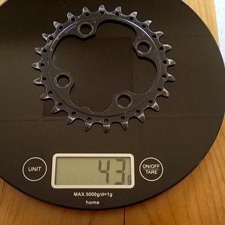 Gewicht Shimano Kettenblatt SLX FC-M670 64mm, 24Z