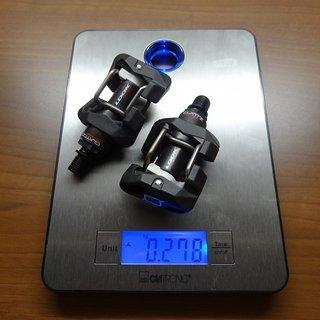 Gewicht Look Pedale (Klick) Quartz Carbon
