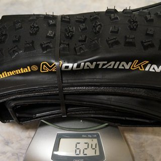 "Gewicht Continental Reifen Mountain King II RaceSport 26x2.4"", 60-559"