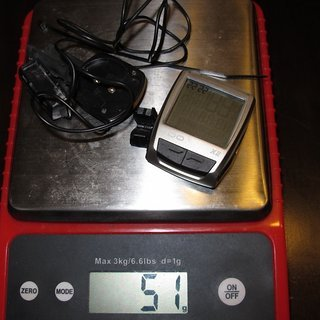 Gewicht VDO Computer X2 WR