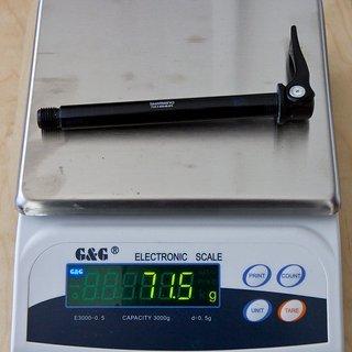 Gewicht Fox Racing Shox Achse 15QR 100 x 15mm