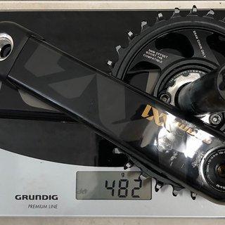 Gewicht SRAM Kurbel XX1 Eagle Gold 32er Kettenblatt Boost GXP 170 mm