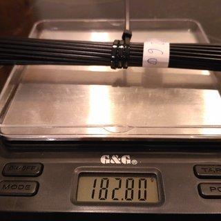 Gewicht CN Spoke Speiche MAC Butted DB454 260mm, 32 Stück