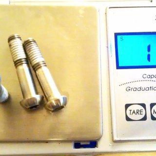 Gewicht Avid Schrauben, Muttern Linsenkopfschraube M6x28, Ti