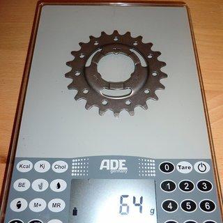 Gewicht SRAM Nabenschaltungen Ritzel 22Z