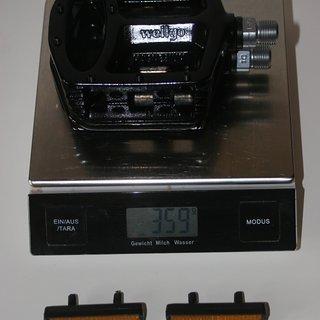 Gewicht Wellgo Pedale (Platform) MG-1 114.6x106.2x30.8mm